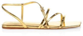 Mercedes Castillo Kelise Flat Metallic Leather Sandals