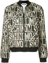 Moschino monogram print tracksuit jacket