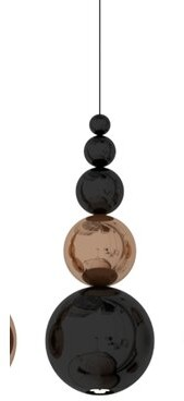 Innermost Bubble 1-Light Unique / Statement Geometric Pendant Color: Black / Copper