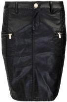 Morgan Straight dual-fabric rock skirt