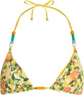 Stella McCartney Citrus-print halterneck triangle bikini top