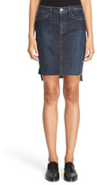 Frame High Rise Denim Skirt