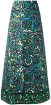 Valentino printed A-line skirt - women - Silk - 38