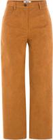 MSGM Cropped Wide-Leg Pants