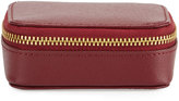 Neiman Marcus Small Leather Pill Case, Wine