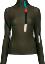 Issey Miyake Session long sleeve turtleneck top - women - Polyester - One Size