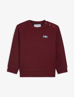 Emporio Armani Rubber logo cotton sweatshirt 6-36 months