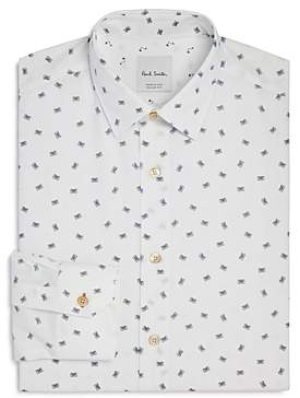 Soho Cassette Print Slim Fit Dress Shirt