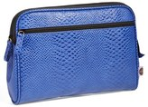 Nordstrom Steph&co. 'Blue Python - Large' Cosmetics Case