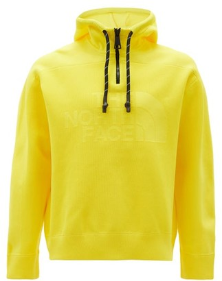 The North Face Black Series - Panelled Logo-knitted Hooded Sweatshirt - Mens - Yellow