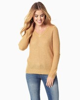 Charming charlie Waffle Sparkle Knit Sweater