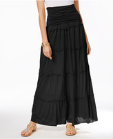 INC International Concepts Tiered Convertible Maxi Skirt, Created for Macy's