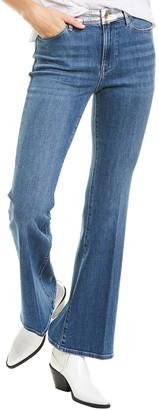Frame Le Pixie Redgrave Silver Foil High-Rise Flare Leg Jean