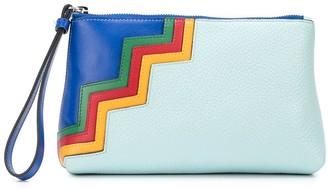 M Missoni colour block zigzag patterned clutch bag