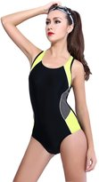 Andux BSYY-01 Women's One-Piece Halter Swimsuit Set Backless