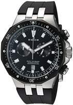 Edox Men's 'Delfin' Quartz Stainless Steel and Rubber Dress Watch, Color:Black (Model: 10109 357NCA NIN)