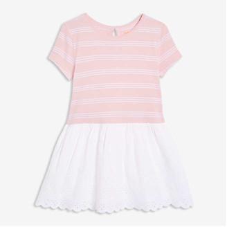 Joe Fresh Toddler Girls' Drop Waist Eyelet Dress, Pale Purple (Size 5)