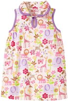 Zutano Lions Keyhole Collar Dress (Baby) - Lion Lullaby - 6 Months