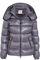 Moncler Berre Metallic Shell Down Jacket - Navy