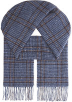 Johnstons Donegal Windowpane Cashmere Scarf