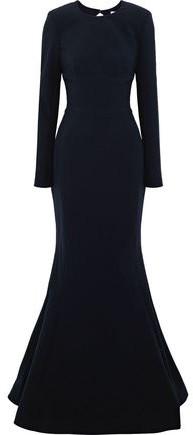 Rebecca Vallance Bree Open-back Crepe Gown