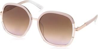 Jessica Simpson Women's J5443 Ndx Non-Polarized Iridium Round Sunglasses
