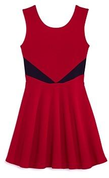 Aqua Girls' Contrast Fit-and-Flare Dress, Big Kid - 100% Exclusive