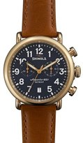 Shinola 41mm Runwell Chronograph Watch, Dark Brown