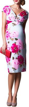 Tiffany Rose Maternity Floral-Print Cap-Sleeve Shift Dress