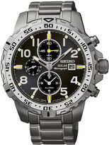Seiko Mens Stainless Steel Chronograph Solar Watch SSC307