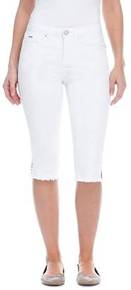 FDJ French Dressing Jeans Sunset Hues Denim Olivia Pedal Pusher in White (White) Women's Jeans