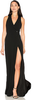 Haute Hippie Tux Wrap Gown in Black
