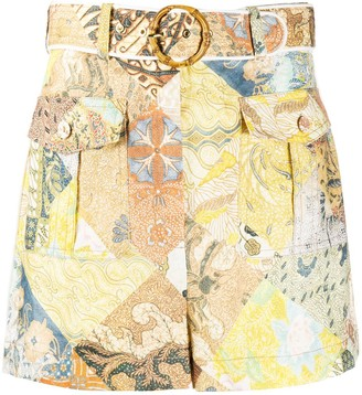 Zimmermann Graphic-Print Shorts