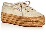 Superga 2790 Linen Lace Up Platform Espadrille Sneakers