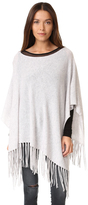 White + Warren Cashmere Two Way Fringe Poncho