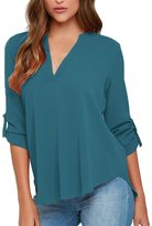 Dearlovers Women Plus Size V Neck Short Sleeve Blouse Shirts Tops