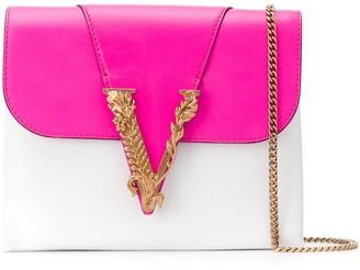 Versace Virtus colour-block leather clutch