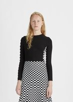 Alexander Wang Long Sleeve Checkerboard Tee