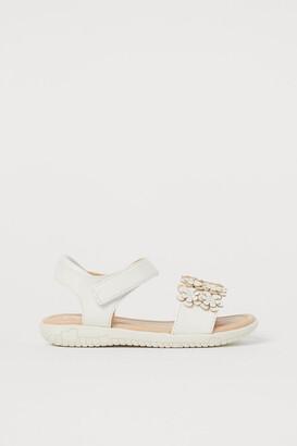 H&M Sandals with Applique - White