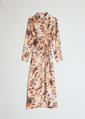 Nanushka Women's Bisso Tie Dye Mesh Turtleneck Dress in Tie Dye Print, Size Extra Small