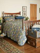 House of Fraser Morris & Co strawberry thief quilted throw blue