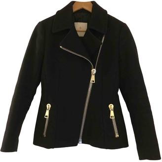 Moncler Classic Black Wool Coat for Women