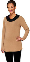Legacy As Is Sweater Jersey Knit Cowl Neck Long Sleeve Tunic
