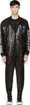 Kokon To Zai Black Padded Nylon & Leather Boiler Suit