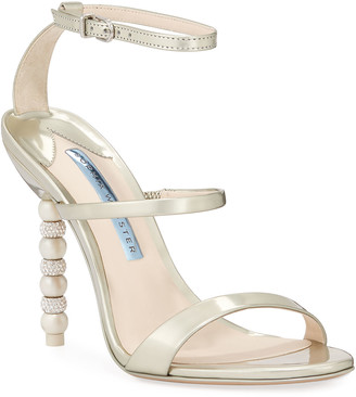 Sophia Webster Rosalind High-Heel Crystal Bridal Sandals