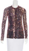 Jean Paul Gaultier Mesh Leopard Print Top