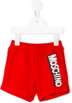 Moschino Kids - logo print shorts - kids - Cotton/Spandex/Elastane - 18-24 mth