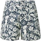 Riz Boardshorts Blue Floral Buckler swim shorts