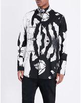 Ann Demeulemeester Abstract-print Cotton Shirt