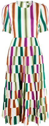 Dvf Diane Von Furstenberg Stripe Colour-Block Dress